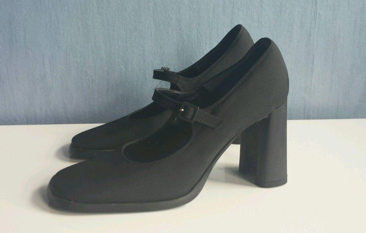 Taccetti pumps con 8,5 cm de de de bloque, apartado-negro, talla 36  colores increíbles