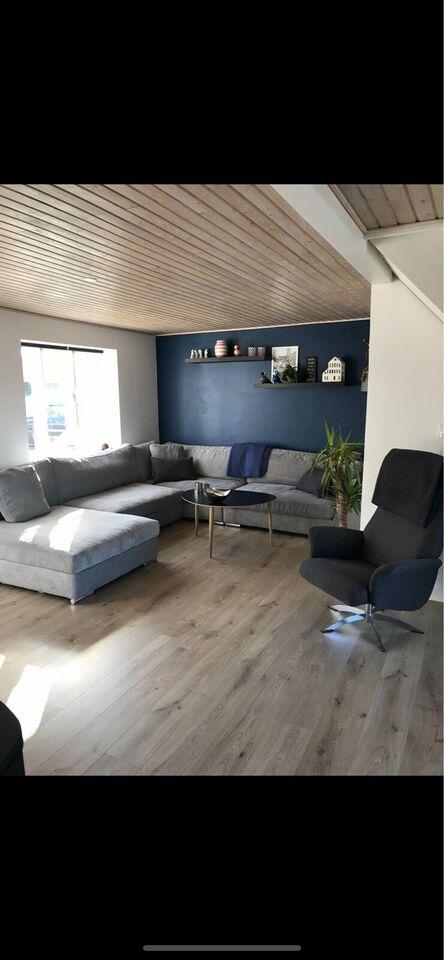 U-sofa, stof, 7 pers.