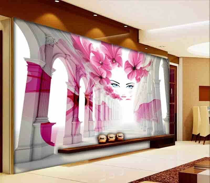 Brilliant Fond pink 3D Full Wall Mural Photo Wallpaper Printing Home Kids Decor