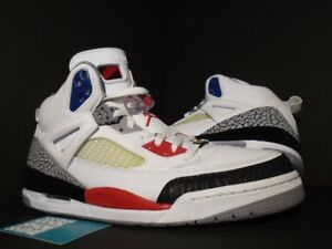 sports shoes dae92 ad588 Image is loading Nike-Air-Jordan-SPIZIKE-WHITE-FIRE-RED-BLACK-