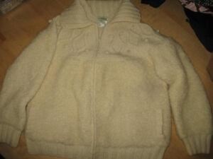 44 Guc size Sweater Cardigan Zippered Astrakhan large cWn64qFUwx