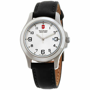 Victorinox-Swiss-Army-Women-039-s-241388CB-039-Garrison-Elegance-039-Black-Leather-Watch