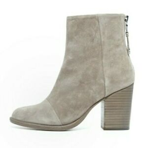 RAG-amp-BONE-Ashby-suede-leather-ankle-boots-back-zip-booties-ecru-Size-39-8-5