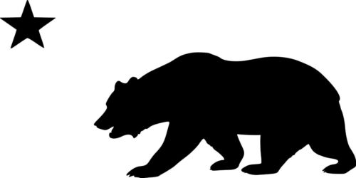 Sticker CALIFORNIA BEAR with STAR Vinyl Decal Grizzly Bear State Flag CA