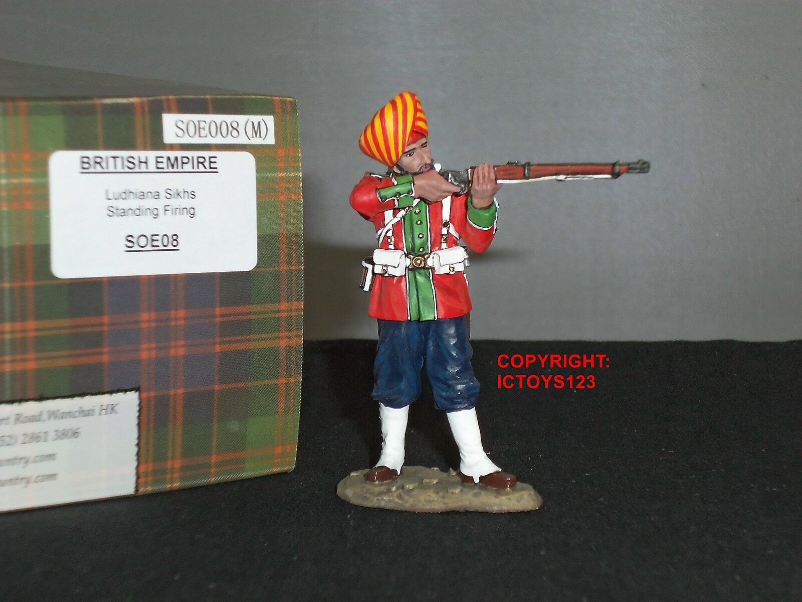 KING AND COUNTRY SOE08 SONS OF THE EMPIRE INDIAN LUDHIANA SIKH STANDING FIRING