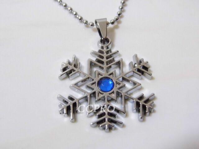 Anime novelty collection Hatsune Miku Snowflake metal pendant/necklace! Cute!