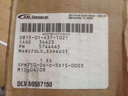 M998 HMMWV M1151 NOS 6.5 DIESEL EXHAUST MANIFOLD 5744445    10238374