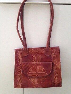 Leder Handtasche Boho Vintage