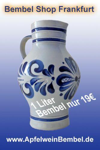 #Ebbelwoi #Bembel #Weikrug WEINKRÜGE 1,0 Liter Apfrelwein Bembel
