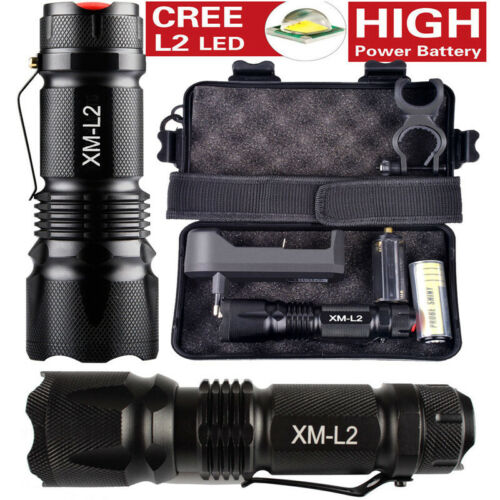 10000LM CREE LED tactical X800 Flashlight Zoomable Military Torch+Bicycle mount