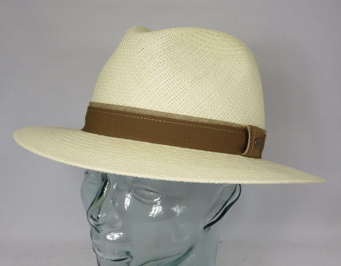 MAYSER EDGAR Panamahut Strohhut Panama Hut Wasserabweisend UV Protect Neu | Luxus