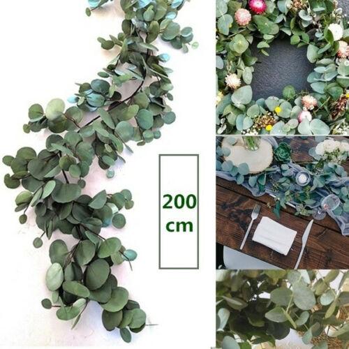 Home Decoration - 200CM Artificial Eucalyptus Garland Hanging Rattan Wedding Greenery Home Decors