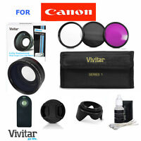 Wide Angle Macro Lens +accessories For Canon Rebel Eos T3 T4 T5 T5i 30d 6d 7d Xt