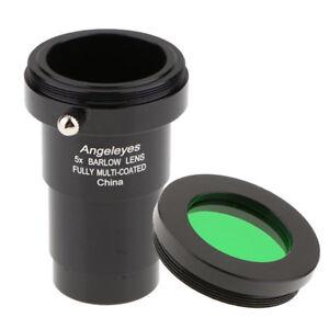 5X-Telescope-Barlow-Lens-Eyepiece-for-Celestron-1-25-034-T-Adapter-w-Filter