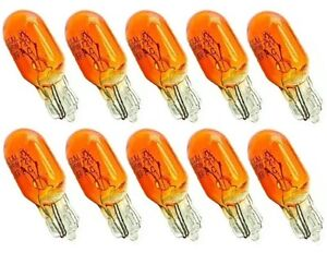 10x-T10-Lampe-Lima-w5w-5Watt-12V-Seiten-Gluehbirne-Blinker-Glassockel-gelb-orange