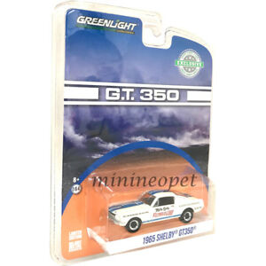 GREENLIGHT-29949-1965-SHELBY-GT-350-1-64-DIECAST-MODEL-CAR-REYNOLDS-FORD-WHITE