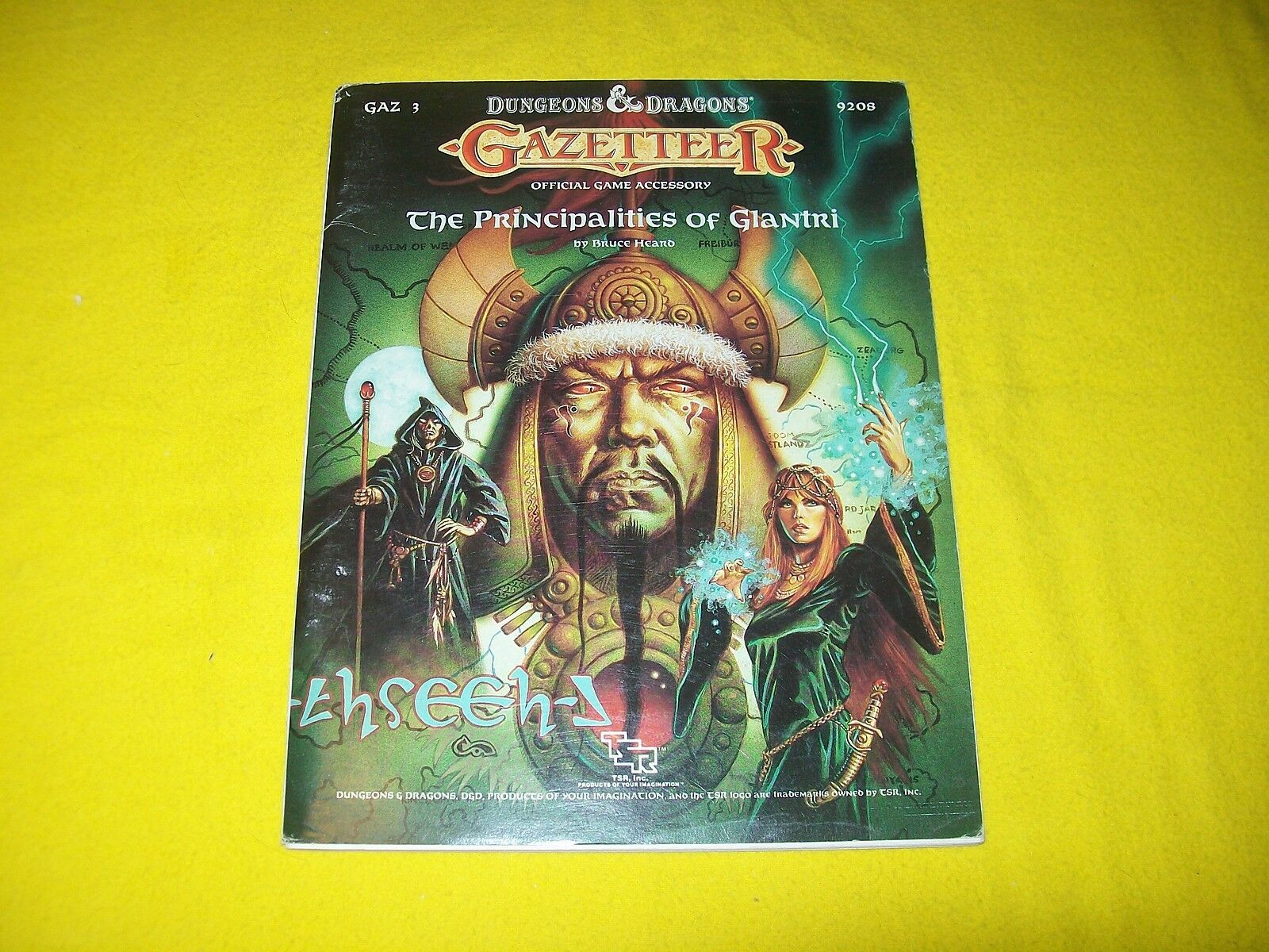 GAZ3 THE PRINCIPALITIES OF GLANTRI DUNGEONS & DRAGONS TSR 9208 - 1 WITH MAP