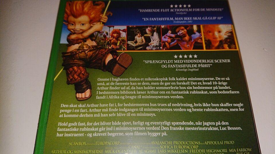 Arthur og Minimoyserne, DVD, tegnefilm
