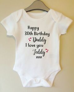 Image Is Loading HAPPY BIRTHDAY DADDY PERSONALISE WITH BABIES NAME Amp