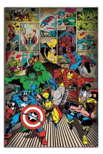Marvel Comics Here Come The Heroes Large Maxi Wall Poster New