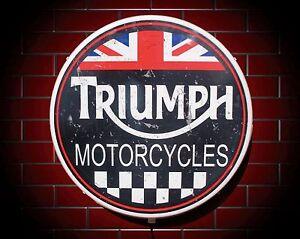 Triumph led 600mm illuminato applique luce da parete auto emblema
