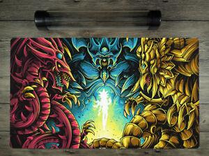 YuGiOh Egyptian God Custom Playmat Trading Card Game Mat Free High Quality tube