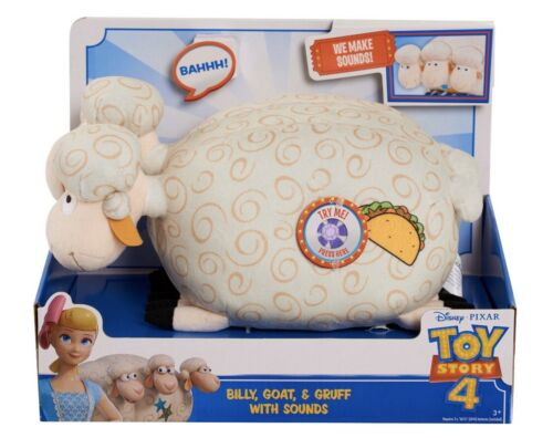 New Disney Pixar Toy Story Billy Goat /& Gruff Plush With Sounds