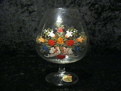 Stetig Joska Waldglashütte Bodenmais - Xl Cognac Glas Mit Monogramm Gw - Mit Etikett Fest In Der Struktur