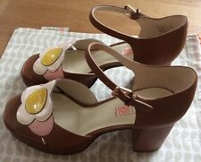 Orla Kiely Clarks, Betty Tan Shoes In Size 7.5, EUR 41.5, Vintage Style