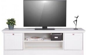 tv board landwood 17 tv lowboard tv unterschrank landhausstil wei ebay. Black Bedroom Furniture Sets. Home Design Ideas