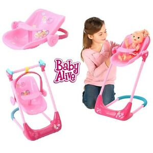 Image Is Loading New Baby Alive Doll 3 In 1 Swing