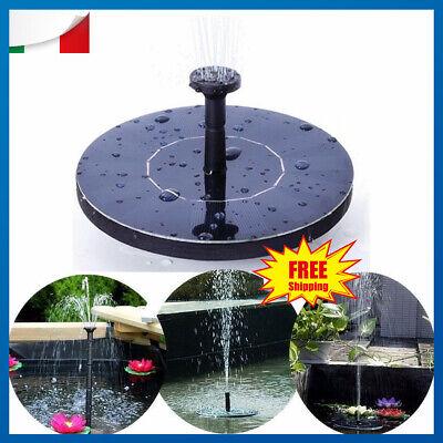 Pompa ad acqua solare per la fontana stagno laghetto da for Fontana per laghetto