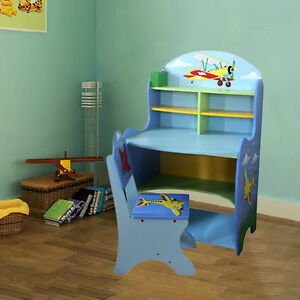 Image Is Loading Large Children Furniture Kids S Boys Learning Study