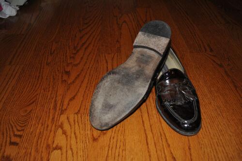 Chaussures M En En Italie 9 Cuir Mens Johnston Murphy Brown Verni Taille Fabriqué qUCnBFfwtx