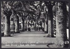 GENOVA SESTRI LEVANTE 85 Cartolina FOTOGRAFICA viaggiata 1957