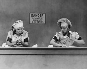 I-Love-Lucy-Lucille-Ball-Vivian-Vance-Chocolate-Factory-8x10-Photo