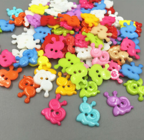 DIY 200X Mixed Color Resin snails shape Buttons Sewing scrapbooking craft 15mm