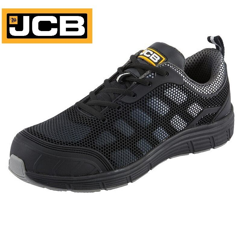 JCB Hombre Safety Lightweight Steel Toe Cap Safety Hombre Work Botas Negro Trainers Zapatos Sz 6-12 e862b4