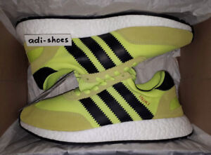 uk availability 14ded 2fbf6 Image is loading ADIDAS-INIKI-RUNNER-SOLAR-YELLOW-BLACK-BOOST-UK-