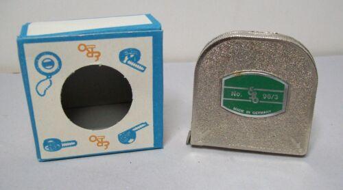 ERO Mètre ruban à mesurer Acier Mètre ancien modèle pour collectionneur Steel Tape estemeter