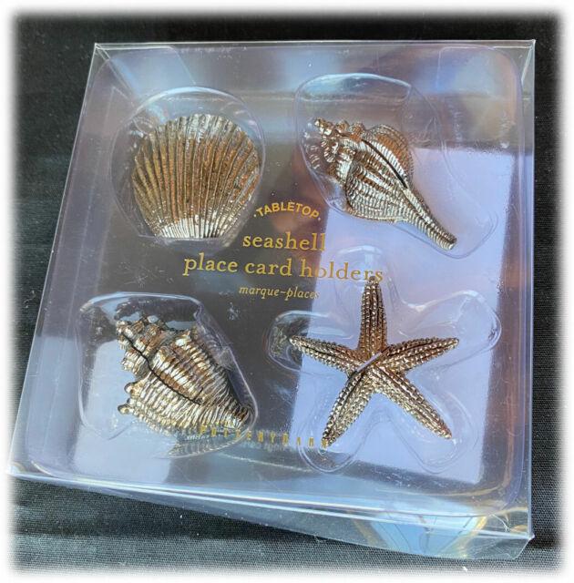 Pottery Barn Silver Seashells Starfish Shell Ocean Sea