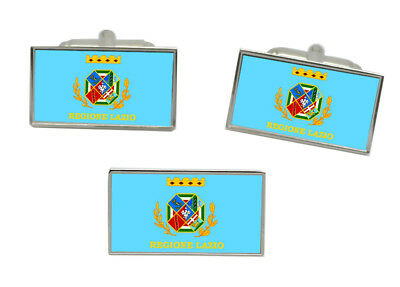 Lazio Region Italy Flag Gold-tone Tie Clip Engraved Personalised