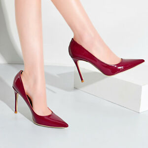 Sexy-Women-039-s-Ladies-High-Heels-Pointed-toe-Party-Pumps-Stilettos-Slip-On-Shoes45
