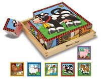 Melissa And Doug Farm Cube Puzzle , New, Free Shipping on Sale