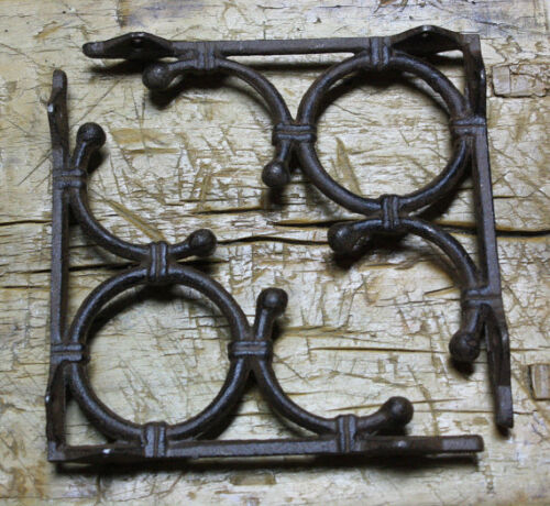 Garden Braces Shelf Bracket Bamboo 2 Cast Iron Antique Style LIFE RING Brackets