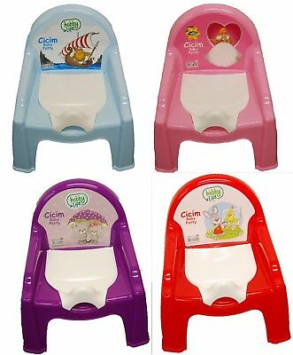 Toilet Trainer Seat Potty Baby Toddler Child Kids Teddy Bear White Pearl