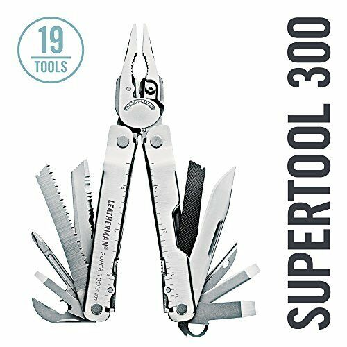 Leatherman - Super Tool  300 Multitool Stainless Steel with Leather Sheath FFP  authentic quality