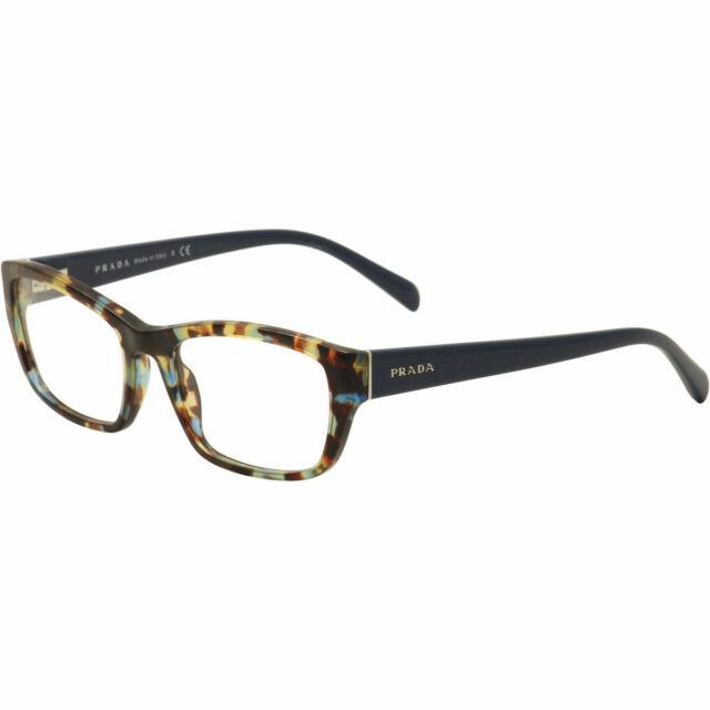 cbf086a5f2 Prada Eyeglasses VPR18O VPR 18O NAG-1O1 Spotted Blue Havana Optical Frame  54mm