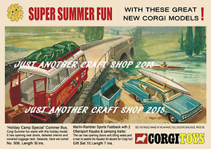 Corgi-Toys-508-amp-GS-10-Commer-Bus-amp-Gift-Set-A4-Size-Poster-Advert-Leaflet-Sign