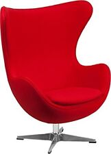 Flash Furniture Red Wool Fabric Egg Chair with Tilt-Lock Mechanism ZB-14-GG NEW